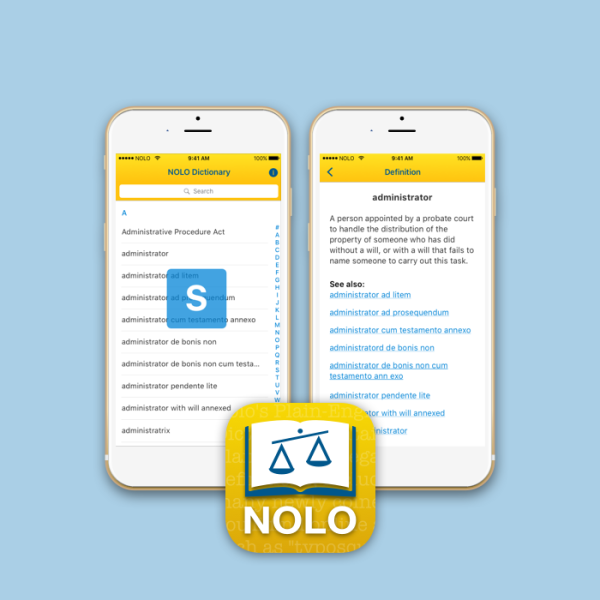 Nolo dictionary mobile app