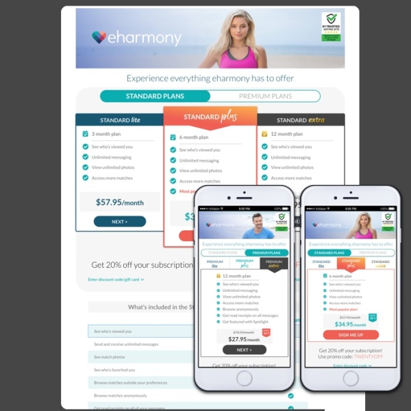 Redesigned desktop and mobile paywalls