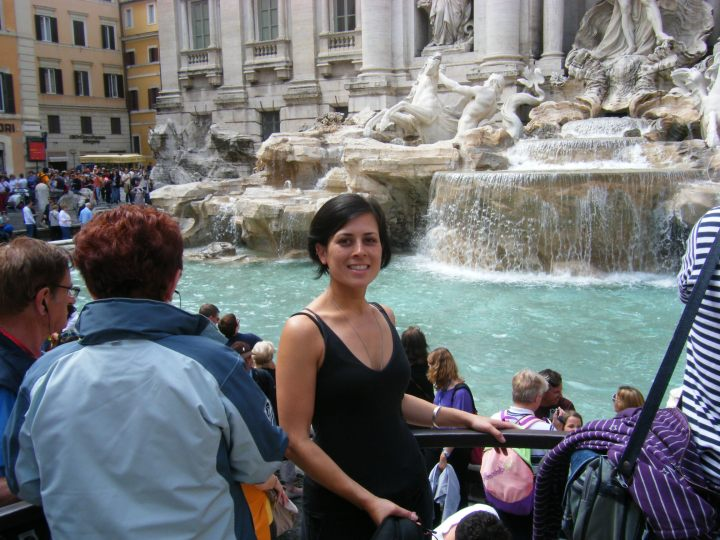 Maile at the Trevi fountain